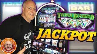 BIG 3 REEL WIN! •High Limit Triple Diamond JACKPOT! •