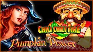 Happy Halloween • Pumpkin Power Bonuses • Chili Chili Fire • The Slot Cats •
