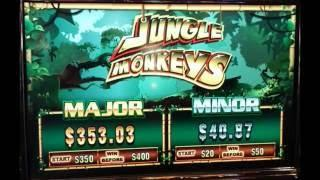 Jungle Monkeys Bonus - I HATE MONKEYS!!! at Pechanga Resort and Casino