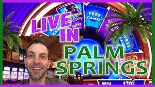 •MORE Live Play from • Palm Springs Casino! •  • Slot Machine Pokies w Brian Christopher