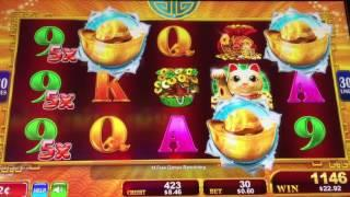 Nice Low Rolling Win *KONAMI FORTUNE STACKS* Slot Bonus 2 Cent Machine