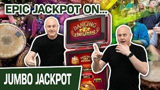 ⋆ Slots ⋆ EPIC Dancing Drums JACKPOT ⋆ Slots ⋆ $44 Spins Lead to a VERY Big Slot Machine Win