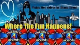 WONDER 4 JACKPOTS SLOT MACHINE-LIVE PLAY