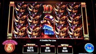 RHINO RUN | Ainsworth - Nice Win! Free Spins Slot Machine Bonus