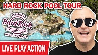 ⋆ Slots ⋆ Hard Rock Hollywood POOL TOUR! ⋆ Slots ⋆ Experience It HERE if You Can't Get Out THERE!