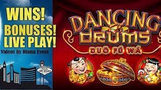 OUR DRUMS DANCED! DANCING DRUMS SLOT MACHINE BONUSES!