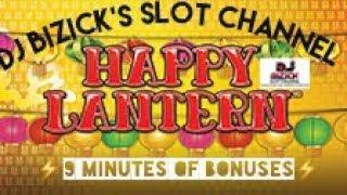 ~*** 9 MINUTES OF BONUSES ***~ Happy Lantern Slot Machine ~ LIGHTNING LINK SERIES ~ $$ NICE WINS $$