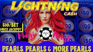 •️Lightning Link Magic Pearl •️BIG HANDPAY JACKPOT $50 SPIN •️Dollar Storm Caribbean Gold HIGH LIMIT