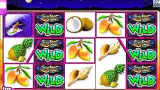 "LUAU LOOT Video Slot Casino Game with a RETRIGGERED ""BIG WIN""  FREE SPIN BONUS"