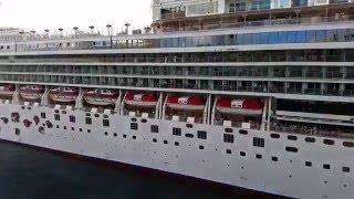Norwegian Gem Cruise Ship Sail Away Time Lapse