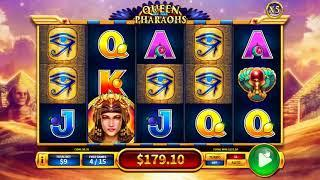 Queen Of The Pharaohs slot - 374 win!