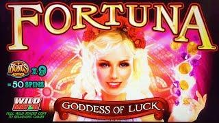 #G2E2016 Everi   NEW Fortuna Goddess of Luck slot machine