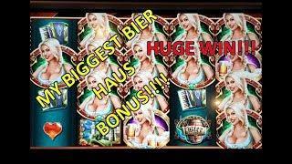 •MY BIGGEST BIER HAUS BONUS• BIER HAUS Slot Machine Live Free Spins Bonus Las Vegas! HUGE WIN