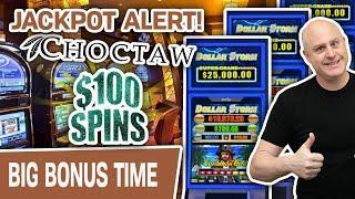 ⋆ Slots ⋆ $100 SPINS! JACKPOT ALERT: ⋆ Slots ⋆ Dollar Storm Caribbean Gold PAYS ME at Choctaw Casino