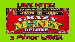 **CRAZY MONEY DELUXE** LINE HITS | 3 MINOR WINS!