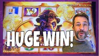 IT'S MY 2nd BIGGEST BUFFALO WIN EVER! •  Lots of slot machine pokie bonus wins!