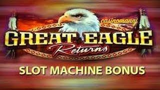 MAX Bet WMS Great Eagle Returns Free Spin w Retrigger