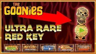 • THE GOONIES SLOT CHALLENGE with ULTRA RARE Red Key!! •️•