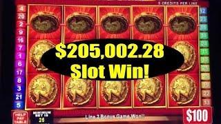 •$205,002.28 Thousand Dollar Slot Win High Roller Video Machine Jackpot Handpay Roman Tribune IGT •