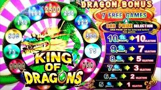 BIG WIN on KING OF DRAGONS 3 SLOT MACHINE POKIE + FU FU FU + MIGHTY CASH BONUSES - PECHANGA CASINO