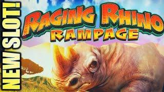 •NEW SLOT!• RAGING RHINO RAMPAGE MEGA PLAY @$10, $20, & $50 BET Slot Machine (SG)