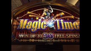 WMS Old School * MAGIC TIME * Nice Slot Bonus @ Borgata