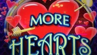MORE HEARTS : MAX BET - BIG WIN - ARISTOCRAT SLOT MACHINE