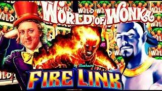 ULTIMATE FIRE LINK slot machine WORLD OF WONKA slot WINS and MORE!