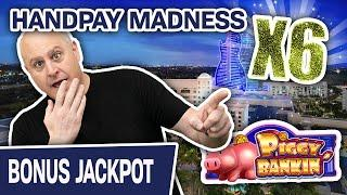 ⋆ Slots ⋆ HANDPAY MADNESS!!! SIX Jackpots & $50 Piggy Bankin' Spins ⋆ Slots ⋆ HELLO Hard Rock Hollywood!