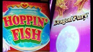 Konami ¥Hoppin Fish¥ + The New **Dragon Fury** Free spins