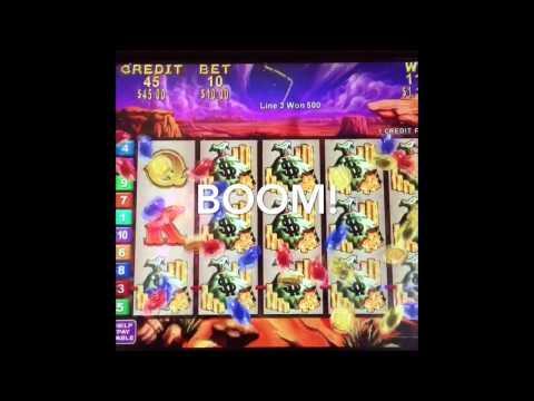 Rawhide Slot Machine JACKPOT On A Line Hit