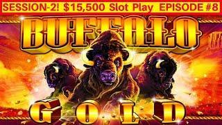 Buffalo Gold Slot Machine Max Bet Bonuses   LIVE PLAY   Season 2 EPISODE #8