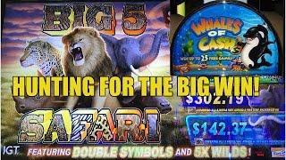 BIG 5 Safari and Whales of Cash Slot Machine-Live Play