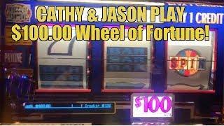 HUNDRED DOLLAR WHEEL OF FORTUNE-CATHY & JASON WINNING!