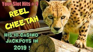 YOUR SLOT HITS 9 •10 JACKPOTS from REEL CHEETAH! •UNREAL! • All from 2019!