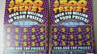 Two $500 Frenzy Lottery Tickets