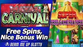 Mayan Carnival Slot - Nice Win in Free Spins Bonus with Super Free Games