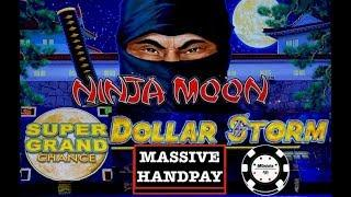 •️DOLLAR STORM NINJA MOON •️(2) HANDPAYS NEW STYLE OF LIGHTNING LINK SLOT •️SUPER GRAND CHANCE