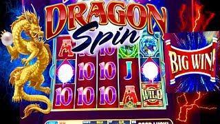 •2 PEARL RARE WIN!•MUST WATCH• BIG WIN! DRAGON SPIN SLOT MACHINE•CASINO GAMBLING• LAS VEGAS SLOTS!