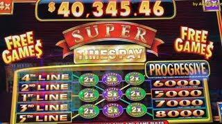 Super Times Pay Max Bet $5@ San Manuel Casino, カリフォルニア カジノ, 赤富士スロット, 勝負師, 女子スロッター, スロット