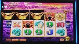 Fortune King Deluxe Slot Machine Bonus Won & Nice Line Hit ! Live Slot Play