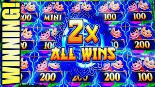 •WINNING! NEW MIGHTY CASH!• XTRA REEL (GUO NIAN) Slot Machine Bonus (Aristocrat)