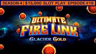 Ultimate Fire Link GLACIER GOLD Slot Machine Bonus     Season 4   Episode #19