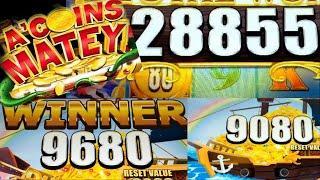 ⋆ Slots ⋆A'Coins Matey MASSIVE Bonus⋆ Slots ⋆ Chasing Huge PROGRESSIVE Hand Pays⋆ Slots ⋆