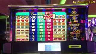 Free Play•Ten Times Pay Dollar Slot Machine Max Bet $3, San Manuel Casino, Akafujislot
