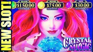 •NEW SLOT! HOW MAGICAL?• CRYSTAL MAGIC Slot Machine Bonus (AGS)