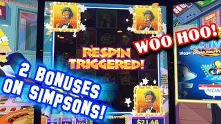 Wins on Simpsons & Xtreme Panda slot machines - APU RINGS UP A BONUS! - Slots #1 - Inside the Casino