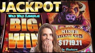 • JACKPOT HANDPAY! • LOW BET MASSIVE  WIN! BUFFALO STAMPEDE slot machine JACKPOT!