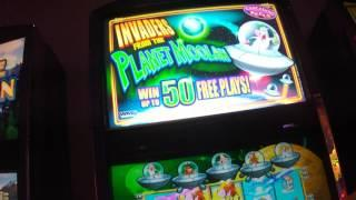 Small hit on the Invaders from the Planet Moolah Live Play slot machine