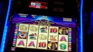Aristocrat - The Buck Stops Here Slot Bonus w/ Retriggers